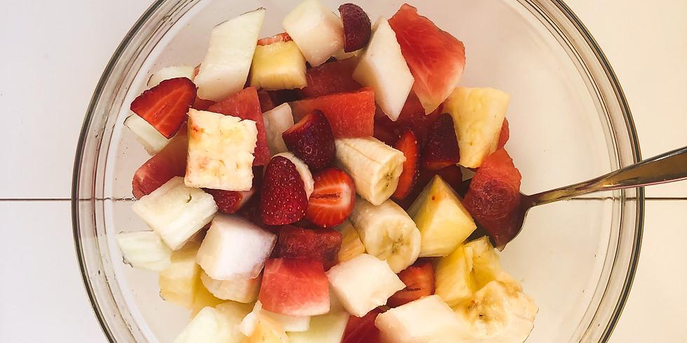 Söögitegemise hommik: puuviljasalat ja smuuti