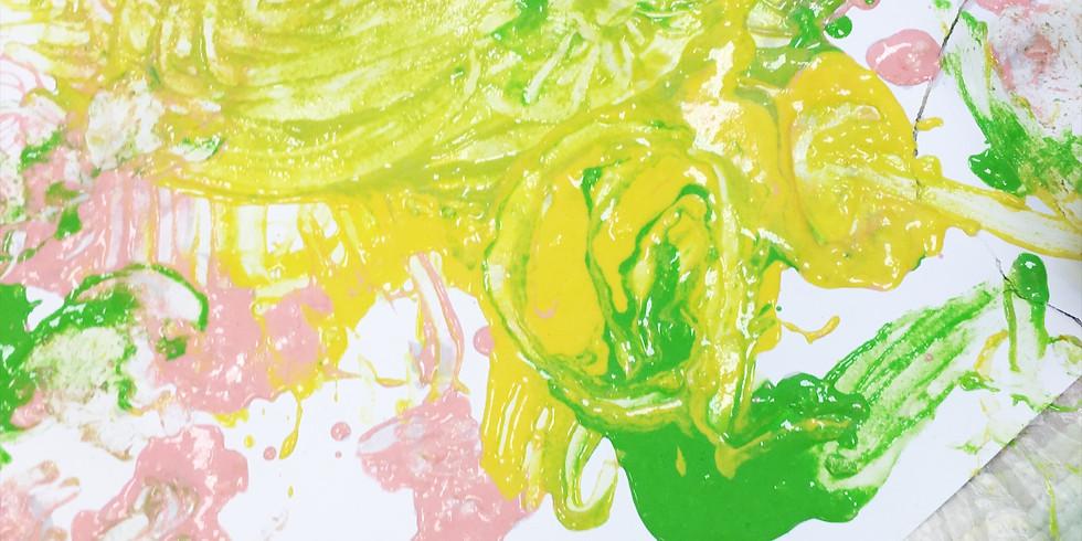 Сенсорное игровое утро: съедобные краски
