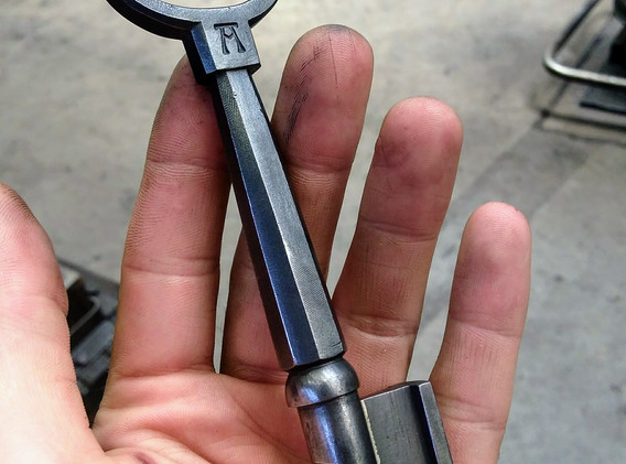 Forged and Filed Whistle Key