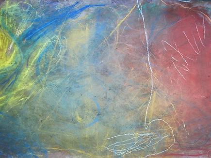 Kunsttherapie Bild entstanden im Atelier tonundfarb