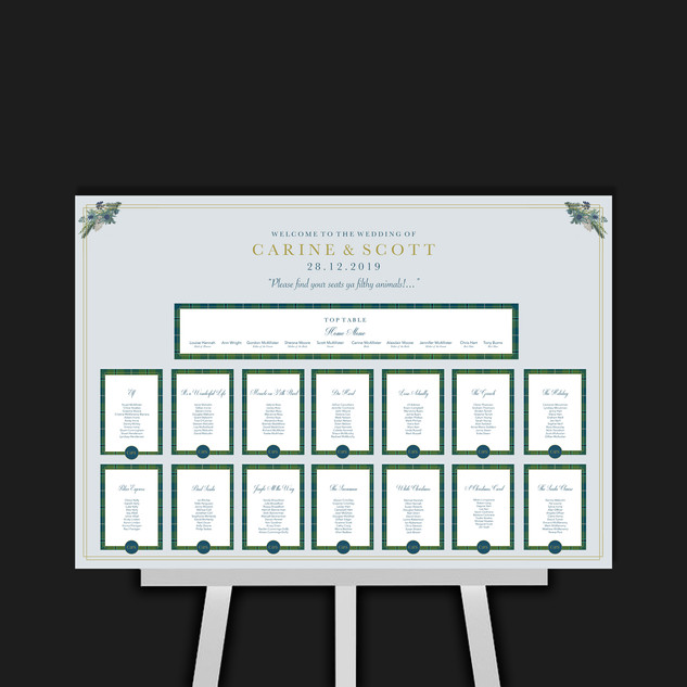 Thistle Table Plan