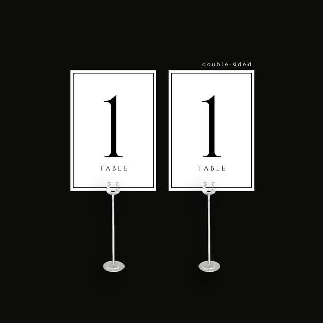 Grey Tartan Table Number