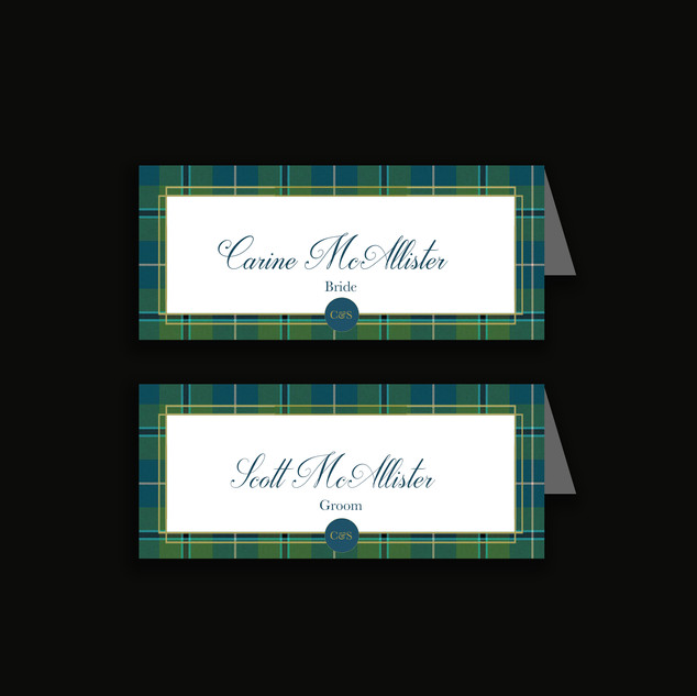Thistle Placecard
