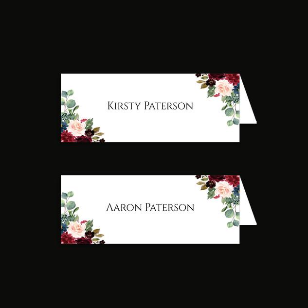 Tartan Flowers Placecard