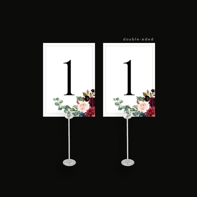 Tartan Flowers Table Number