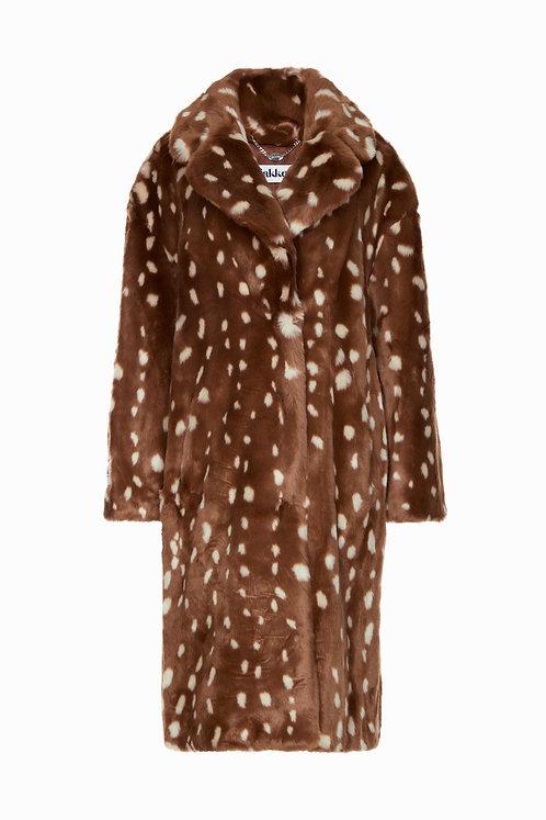 Jakke Katie Faux Fur Long Coat Bambi