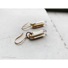 Shyla Farah Earrings Crystal Quartz