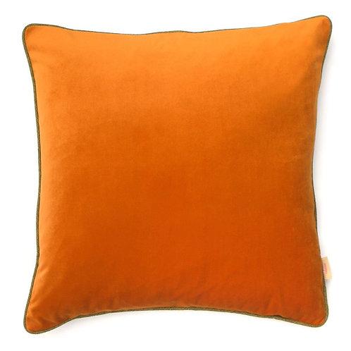Susi Bellamy Orange Velvet Square Cushion