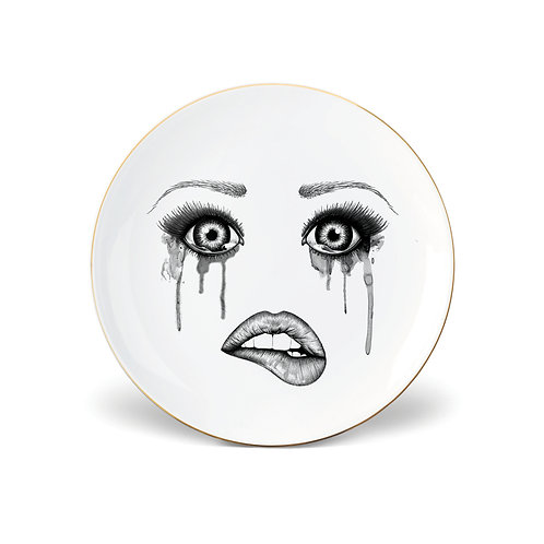 Lauren Dickinson Clarke The Poet Side Plate