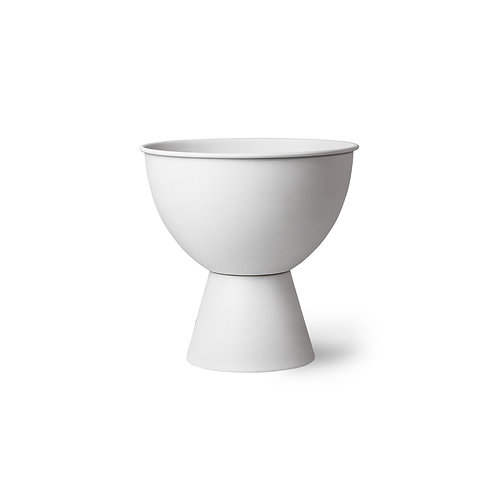 HK Living metal flower pot on base rustic white medium
