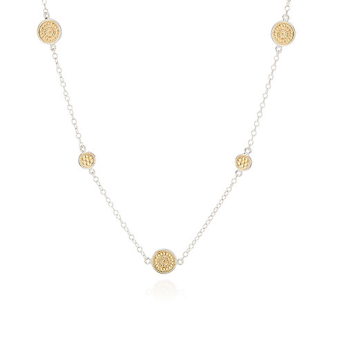 Anna Beck Multi Disc Station Necklace Gold & Silver