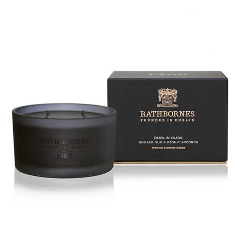 Rathbornes Smoked Oud & Ozone Scented Luxury Candle