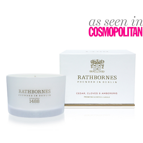Rathbornes Beyond The Pale Cedar, cloves and Ambergris Scented Travel Candle