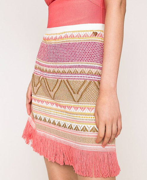 Twinset short skirt with fringes