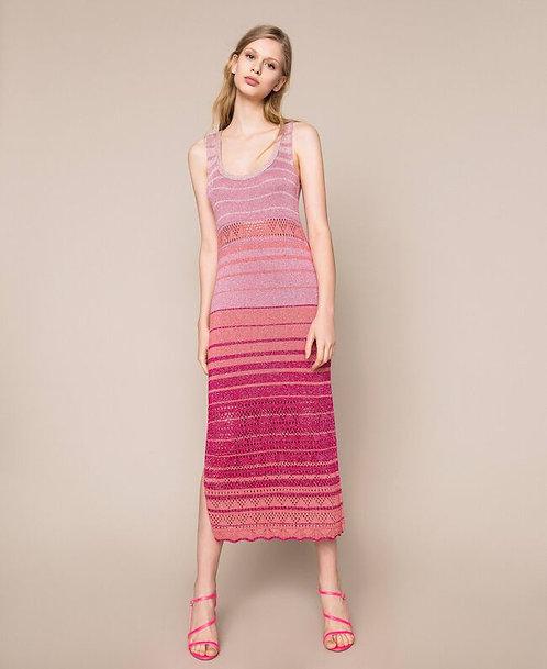 Twinset striped lurex yarn dress