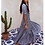 Lisou Stella Blue Bubble Print Silk Tiered Dress