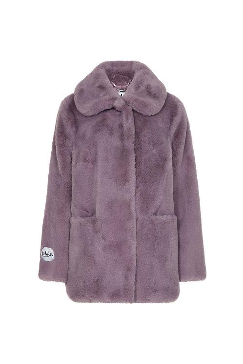 Jakke Tilly Faux Fur Jacket 'Wear & Care' Lavender