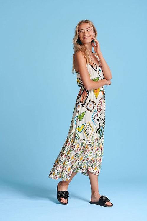 POM Amsterdam Nature's Mosaic Multi Dress