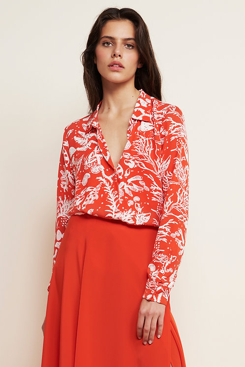 Lily Blouse Crazy Coral