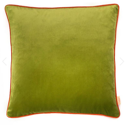 Susi Bellamy Lime Velvet Square Cushion