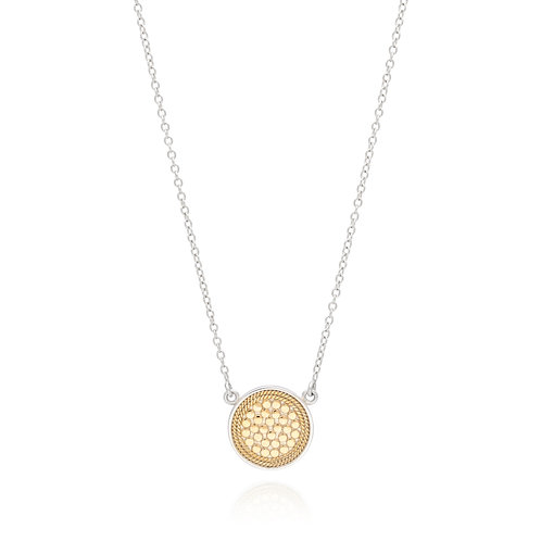 Anna Beck Reversible Disc Necklace Gold & Silver