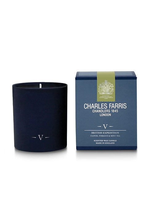 Charles Farris British Expedition Scented Candle Cloves, Tobacco & Mint Tea