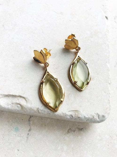 Shyla Tulip Earrings Lemon Quartz