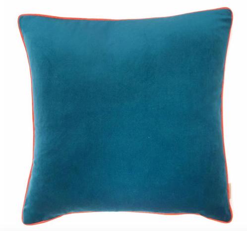 Susi Bellamy Teal Velvet Square Cushion