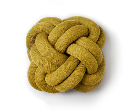 Design House Stockholm Knot Cushion Yellow