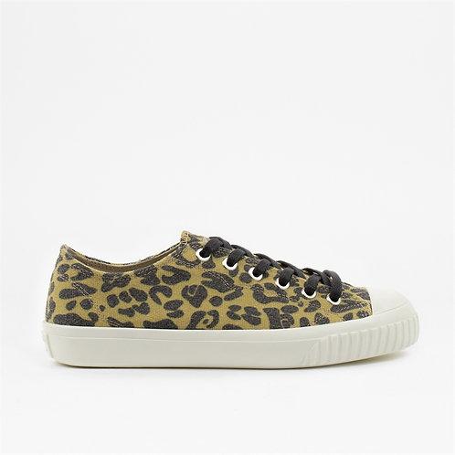 Sneaky Steve - Swing Low Canvas Shoe - Yellow Leopard