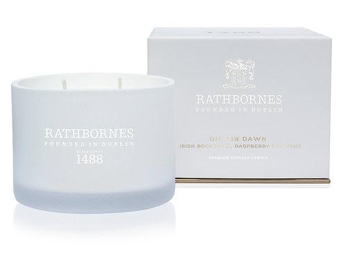Rathbornes Irish Rock Rose, Raspberry & Davana Scented Classic Candle