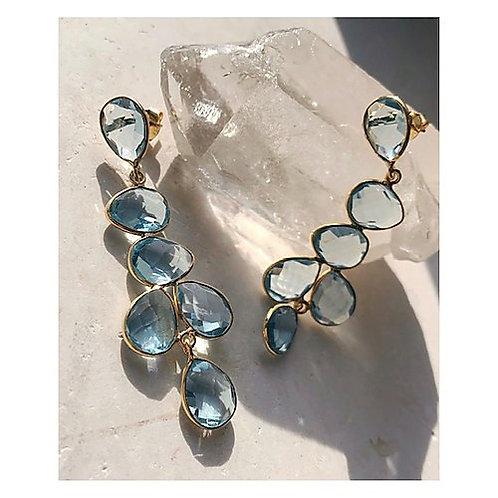 Shyla Sheena Earrings Soft Blue