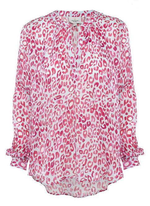 Primrose Park Sandy Open Shirt Pink Leopard Print