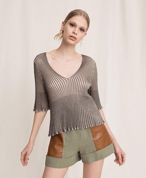 Twinset lurex yarn jumper