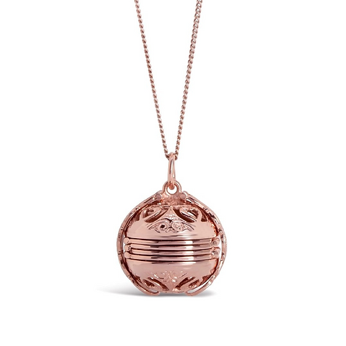 Lily Blanche Memory Keeper Locket Rose Gold