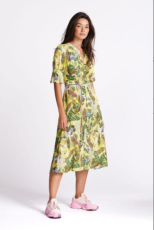 POM Amsterdam Jungle Beats Lemon Dress