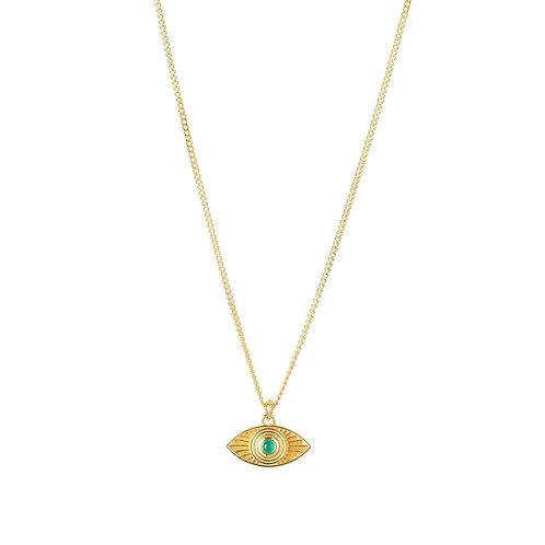 Rachel Entwistle Rays of Light Pendant Gold -Green Onyx