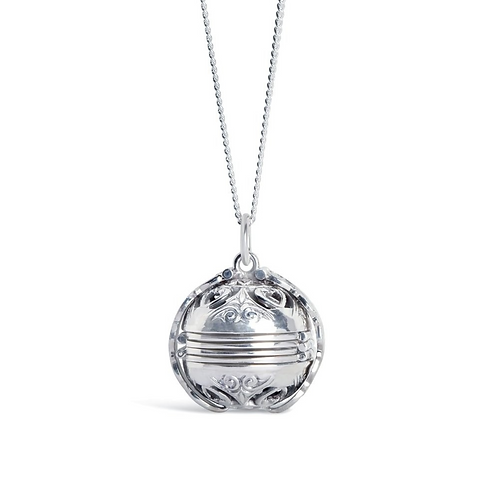 Lily Blanche Memory Keeper Locket Silver
