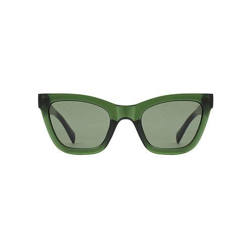 A.Kjaerbede Sunglasses Big Kanye Dark Green Transparent