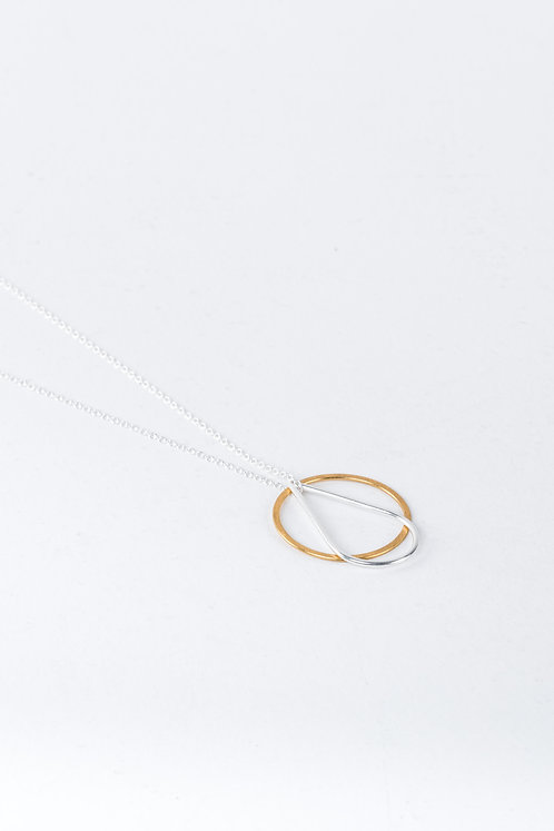 One & Eight Silver and Gold Celeste Necklace
