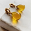 Thumbnail: Synthea Drop Earrings Citrine Smooth