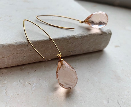 Shyla Arabella Earring Pink Quartz