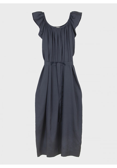 Emin & Paul Ruffle Dress - Blue / Green