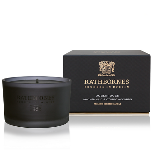 Rathbornes Smoked Oud Ozone Scented Travel Candle