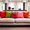 Thumbnail: Susi Bellamy Lime Velvet Square Cushion