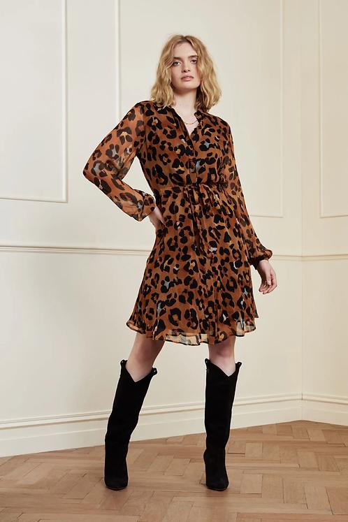 Fabienne Chapot Frida Short Dress - Leopatra