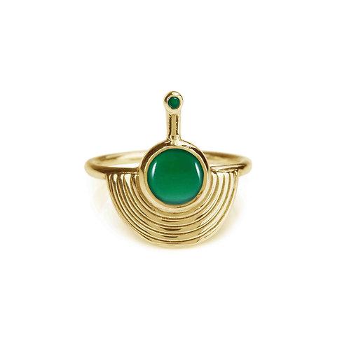 Rachel Entwistle Interstellar Ring Gold - Green Onyx