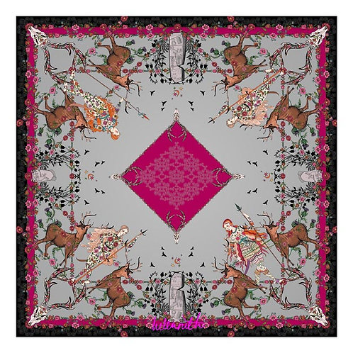 Helen Ruth 'Daughter of the Picts' Silk Square Scarf