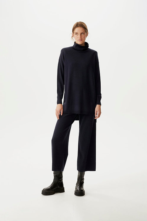 Gestuz Navy Thelma Knitted Trousers