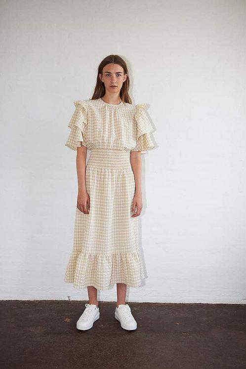 Stella Nova Shine Dress - Creme/White